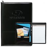 promotional zippered script padfolio