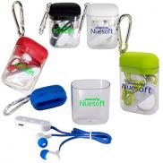 promotional wireless earbuds in carabiner case