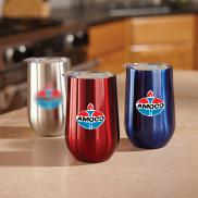 promotional 16 oz. stainless wine cup - full color