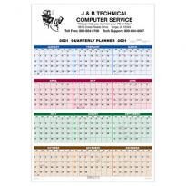26271 - Single Sheet Wall Calendar - Quarterly