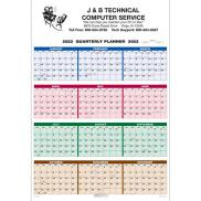 promotional single sheet wall calendar - quarterly