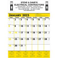 26280 - Commercial Planner Wall Calendar - Yellow & Black