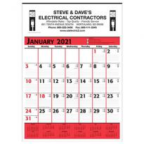 26281 - Commercial Planner Wall Calendar - Red & Black