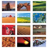promotional american agriculture wall calendar - stapled