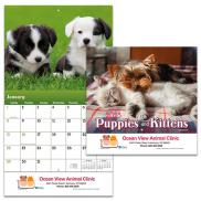 promotional puppies & kittens wall calendar - stapled