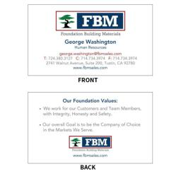 FBM Business Cards