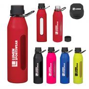 promotional 24 oz. synergy glass sports bottle