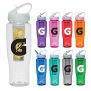 promotional 28 oz. poly-clean infuser bottle