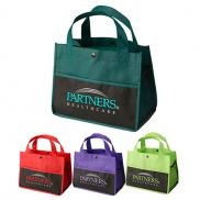 promotional mini snap lunch tote - full color