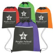 promotional non-woven pocket sports pack with pocket