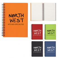 "26926 - 5"" X 7"" Rubbery Spiral Notebook"