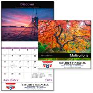 promotional motivations stapled calendar