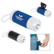 promotional dog bag dispenser with flashlight