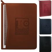 promotional pedova™ zippered padfolio