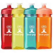 promotional 16 oz. polysure™ squared-up bottle