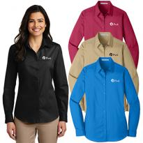 27372 - Port Authority® Ladies Long Sleeve Carefree Poplin Shirt