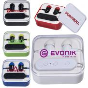 promotional wireless bluetooth® earbuds in case