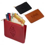 promotional tuscany™ rfid zip wallet pouch