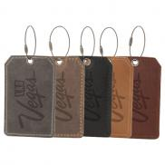 promotional hooper leather luggage tag