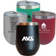 promotional 12 oz. sipper wine tumbler