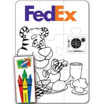 27664 - Nutrition 9 Piece Coloring Puzzle Set