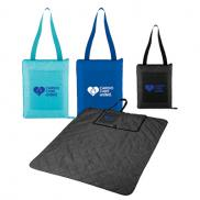 promotional fold up picnic blanket with carrying strap