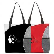 promotional mesh pocket non-woven convention tote