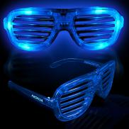 promotional light up slotted shutter shade glasses