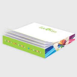 "3 3/8"" x 3 3/8"" x 1/2"" Post-it® Notes Slim Cube (Full Color)"