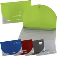 promotional color flap translucent document holder
