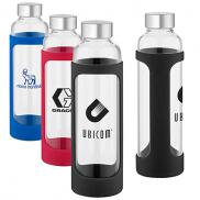 promotional 20 oz. tioga glass water bottle