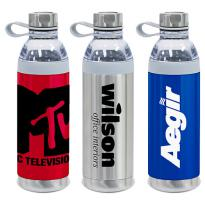 28484 - 20 oz. Dual Opening Stainless Steel Water Bottle