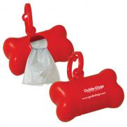 promotional pet wast bag dispenser- bone shape