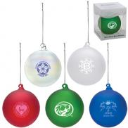 promotional hand blown glass ornament