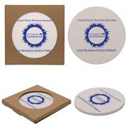 promotional single round absorbent stone coaster