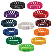 promotional silicone link wristband