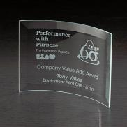 promotional crescent medium glass award