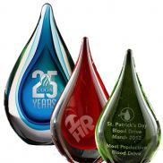 promotional fusion art glass award