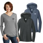 promotional district ® women's perfect tri ® long sleeve hoodie