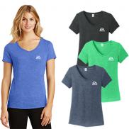 promotional district ® women's perfect tri ® v-neck tee (color)