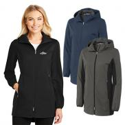 promotional port authority® ladies active hooded soft shell jacket