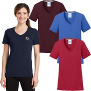 promotional port & company® ladies performance v-neck tee