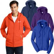 promotional port & company® fan favorite™ fleece full-zip hooded sweatshirt