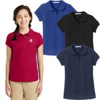 29114 - Port Authority® Girls Silk Touch™ Peter Pan Collar Polo