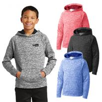 29116 - Sport-Tek® Youth PosiCharge® Electric Heather Fleece Hooded Pullover