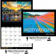promotional motivations wall calendar - stapled