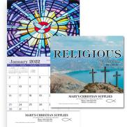 promotional religious reflections wall calendar - stapled