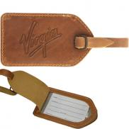promotional barranca canyon leather luggage tag