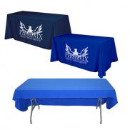promotional flat 3-sided table cover - fits 6 foot standard table