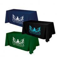 promotional flat 4-sided table cover - fits 6 foot standard table